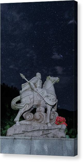 Canvas Print featuring the photograph A Hero's Starscape by William Dickman