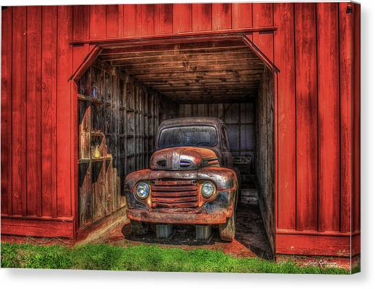 A Hiding Place 1949 Ford Pickup Truck Canvas Print