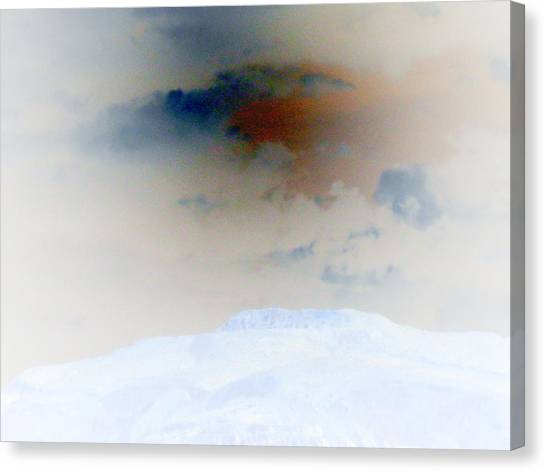 A Hill And Sky Canvas Print by Eileen Shahbazian