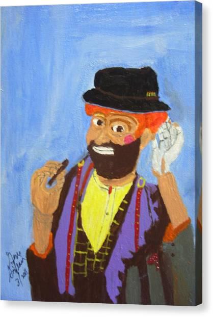A Hobo Clown Canvas Print