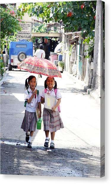 A Hot School Day Canvas Print by Jez C Self