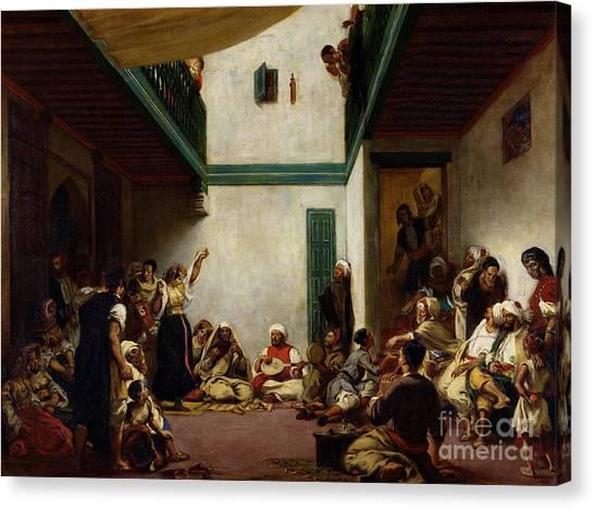 Moroccan Canvas Print - A Jewish Wedding In Morocco by Ferdinand Victor Eugene Delacroix