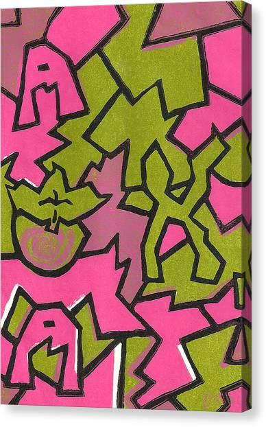 Alpha Kappa Alpha Canvas Print - A K A Abstract by BFly Designs