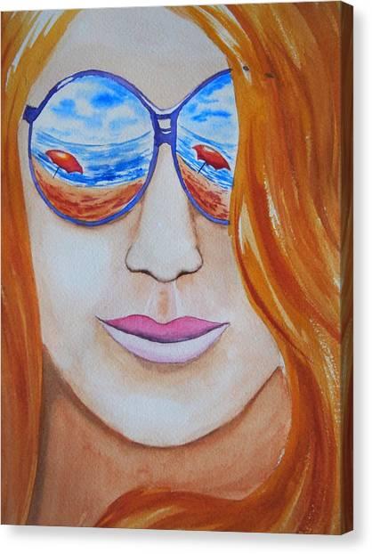 A La Plage Canvas Print