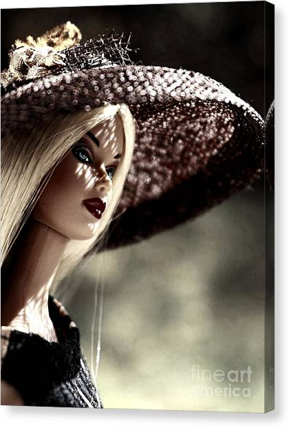 A Lady At The Derby Canvas Print