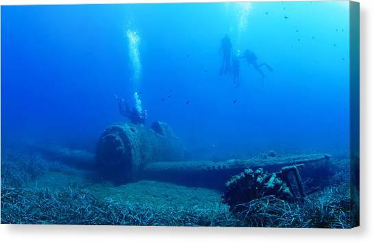 Underwater Canvas Print - A Last Glance ... by Nini_filippini