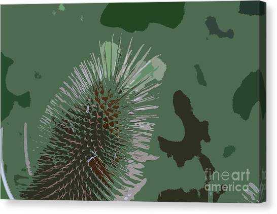 Green Camo Canvas Print - A Lesson In Camouflage by Tabitha Fox