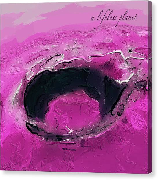 A Lifeless Planet Pink Canvas Print