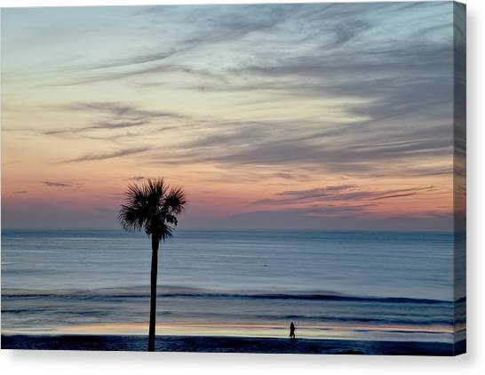 Daytona 500 Canvas Print - Daytona Beach Sunrise by Kay Brewer