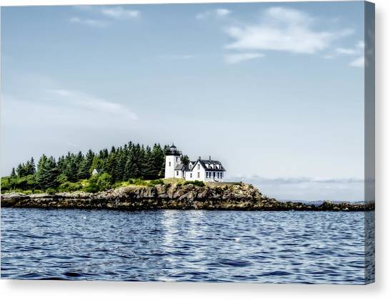 Atlantic 10 Canvas Print - A Lighthouse On The Coast Of Maine by Kay Brewer