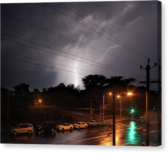 Canvas Print - A Lightning Across The Street by Daniel Furon