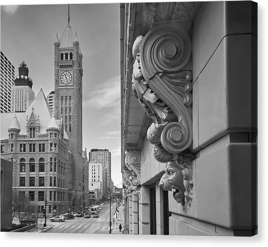 A Lion Guards  Minneapolis City Hall Canvas Print