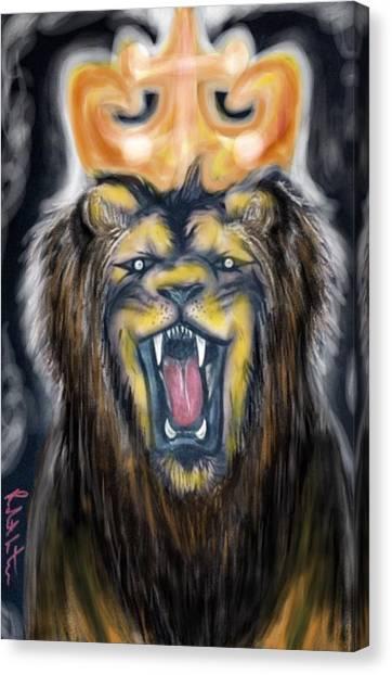 A Lion's Royalty Canvas Print