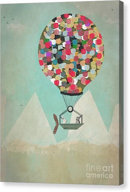 Hot Air Balloons Canvas Print - A Little Adventure by Bri Buckley