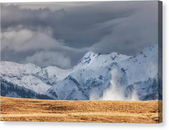 A Little Gust Canvas Print