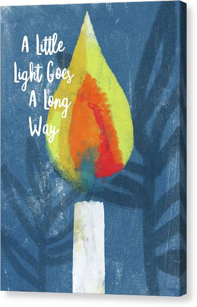 Candle Lit Canvas Print - A Little Light- Art By Linda Woods by Linda Woods
