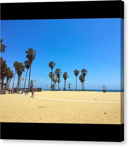 Venice Beach Canvas Print - Venice Afternoons by Roomana Patel