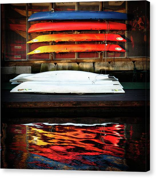 A Little Reflection Before The Adventure Canvas Print