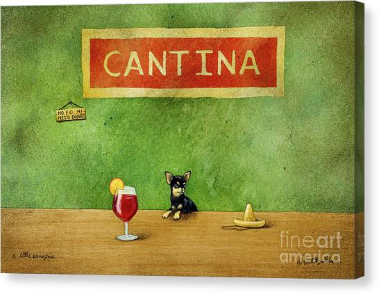 Chihuahuas Canvas Print - a little Sangria... by Will Bullas