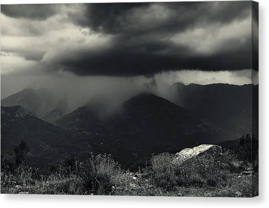 Thunderstorms Canvas Print - A Little Shower by Fabien Bravin