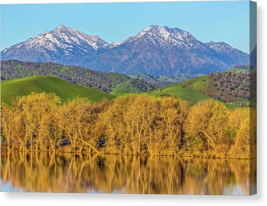 Contra Canvas Print - A Little Snow On Mt. Diablo by Marc Crumpler