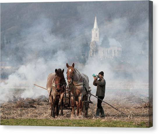 Church Canvas Print - A Long Day by Mihnea Turcu