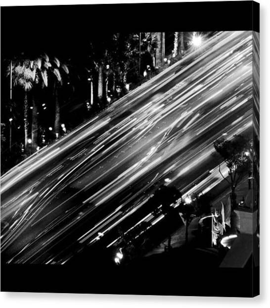 Famous Artists Canvas Print - A Long Exposure That I Took From The by Alex Snay