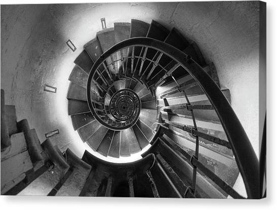 Canvas Print featuring the photograph A Long Way Down by Quality HDR Photography