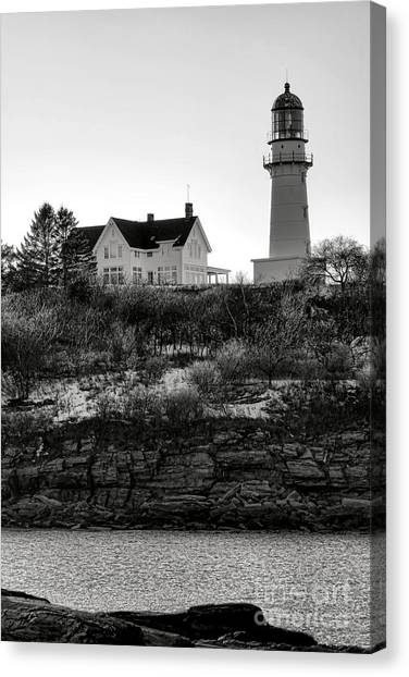 Keeper Canvas Print - A Long Winter At Cape Elizabeth by Olivier Le Queinec