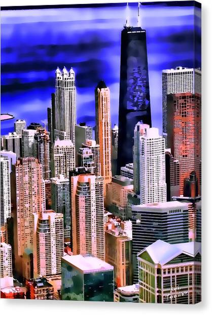 A Look At Chicago Canvas Print by Kathy Tarochione