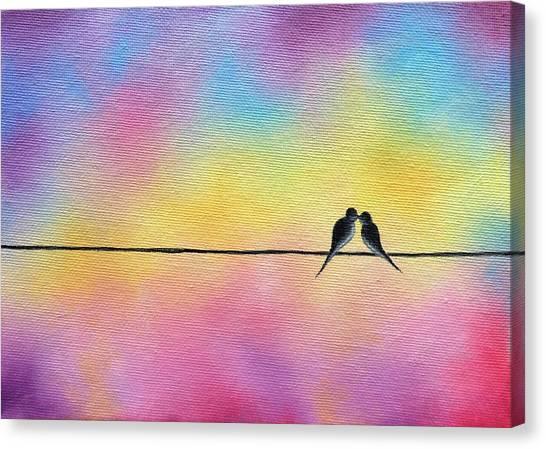 Bird On A Wire Canvas Prints   Fine Art America