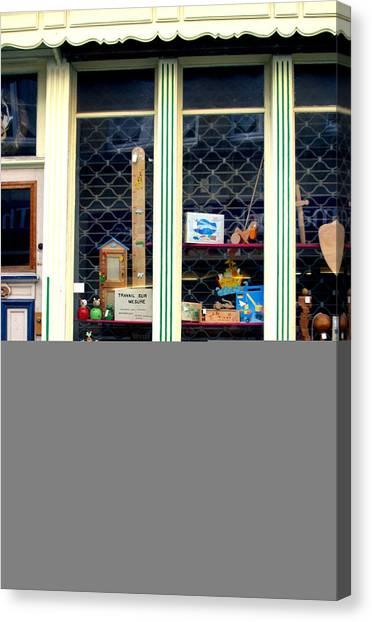 A Lovely Little Quaint Shop Canvas Print by Jez C Self