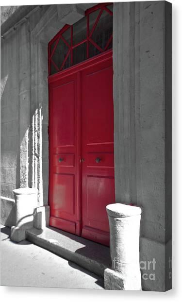 A Magic Red Door Canvas Print