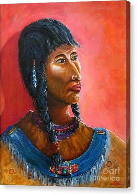A Maiden Waits Canvas Print