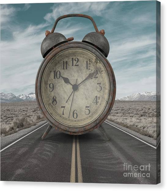 Canvas Print featuring the photograph A Matter Of Time Surreal by Edward Fielding