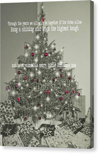 A Merry Little Christmas Quote Canvas Print by JAMART Photography