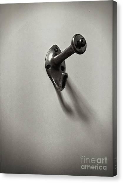 Coat Hanger Canvas Print - A Metal Hook by Tom Gowanlock