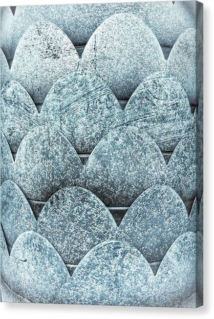 Chain Link Canvas Print - A Metallic Background by Tom Gowanlock