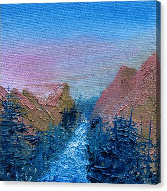 Bob Ross Canvas Print - A Mighty River Canyon by Jera Sky