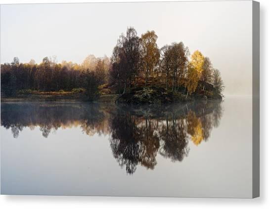 A Misty Autumn Canvas Print