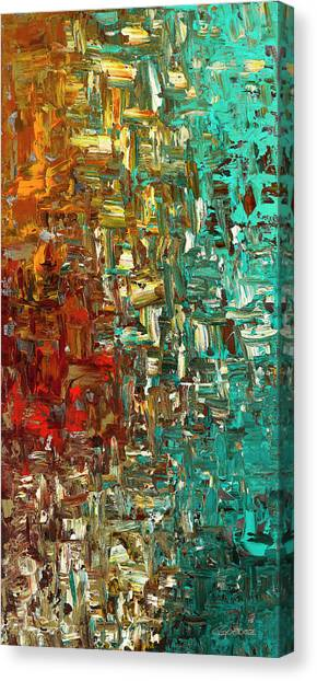 A Moment In Time - Abstract Art Canvas Print
