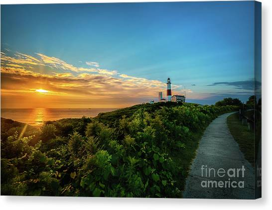 A Montauk Lighthouse Sunrise Canvas Print
