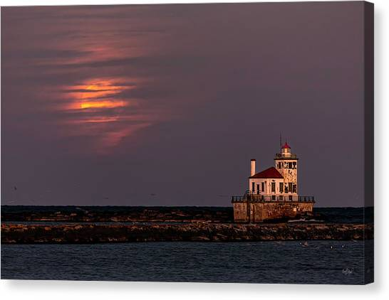 Beavers Canvas Print - A Moonsetting Sunrise by Everet Regal