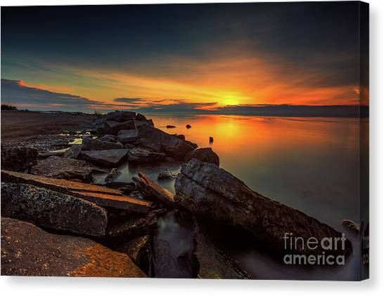 A Morning On The Rocks Canvas Print