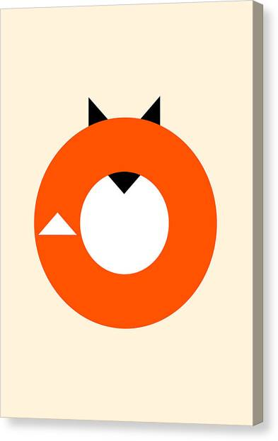 Orange Canvas Print - A Most Minimalist Fox by Nicholas Ely