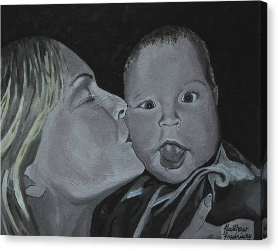 A Mothers Love Canvas Print by Matthew Fredricey