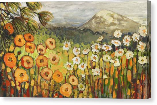 Daisies Canvas Print - A Mountain View by Jennifer Lommers