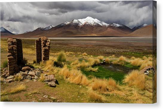 Bolivian Canvas Print - A Mountain's Tale by Aaron Bedell