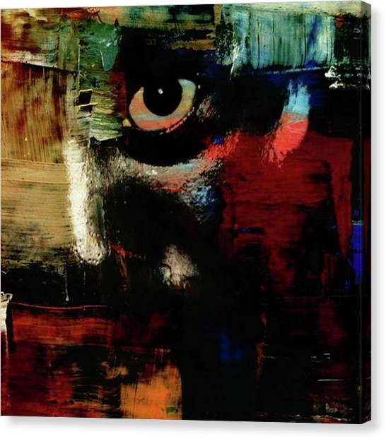 Dragons Canvas Print - A Mysterious Eye Gazes From Behind A by Dragons Eye Emporium
