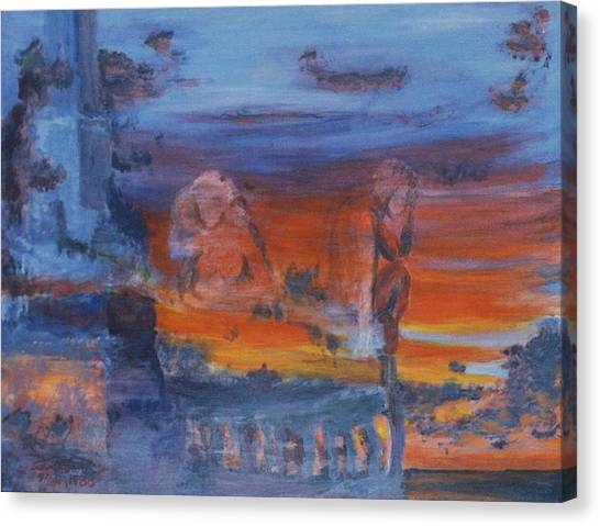 A Mystery Of Gods Canvas Print